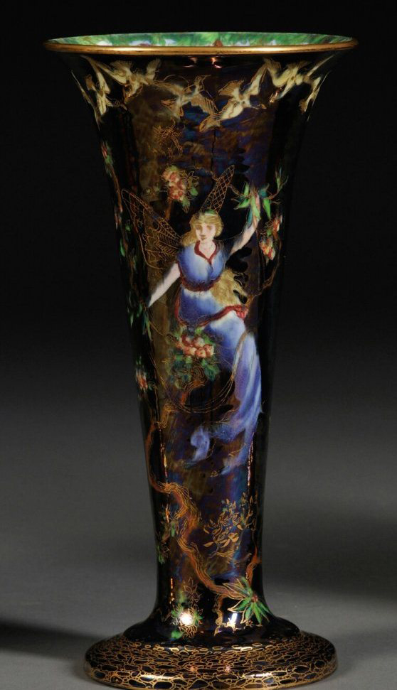 Fairyland Lustre Butterfly Woman Vase