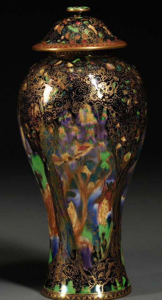 Fairyland Lustre Copper Trees Vase