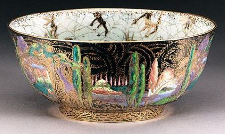 Fairyland Lustre Elves and Bell Branch Bowl