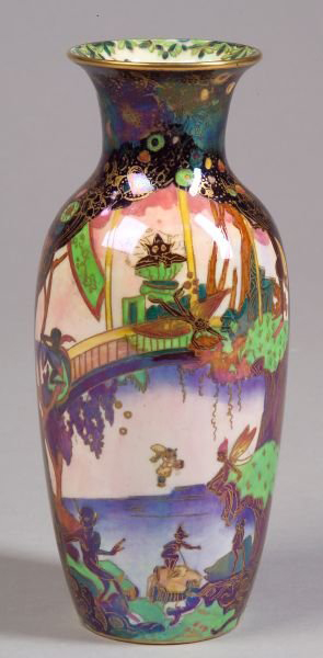 Fairyland Lustre Fairy Slide Vase