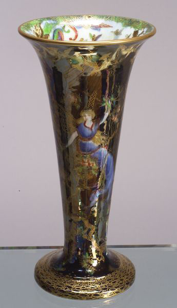 Fairyland Lustre Flight of Birds Vase