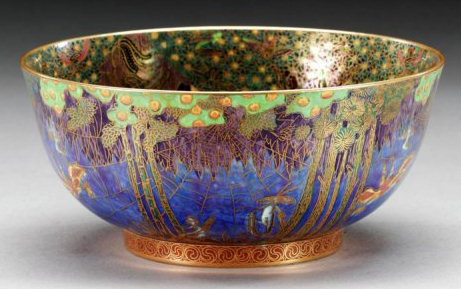 Fairyland Lustre Jumping Faun Bowl