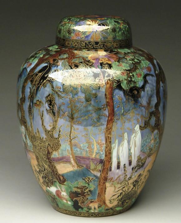 Fairyland Lustre Owls of Wisdom Vase