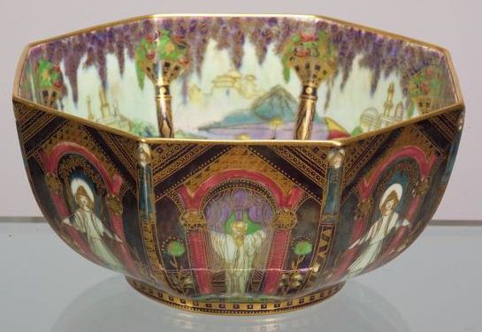 Fairyland Lustre Running Figures Bowl