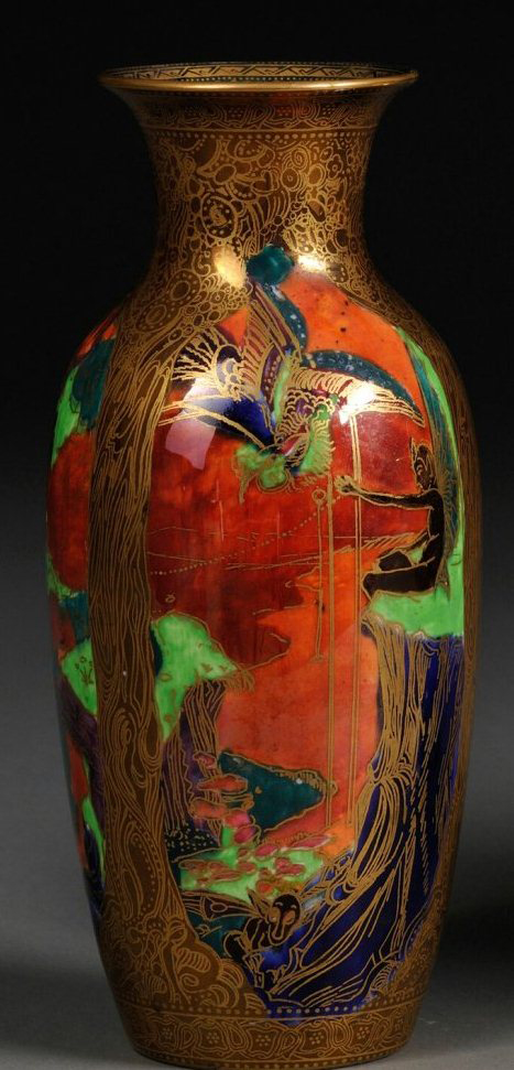 Fairyland Lustre Ship and Tree Vase