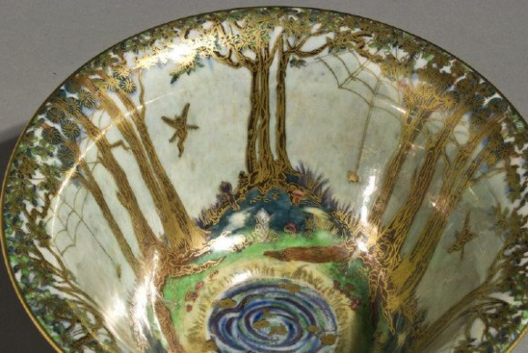 Fairyland Lustre Spider and Web Bowl