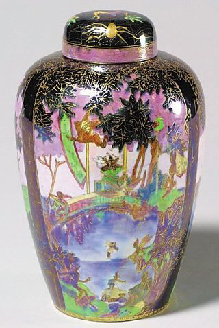 Fairyland Lustre Sycamore Tree Vase