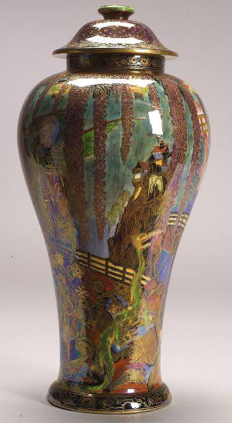Fairyland Lustre Temple on a Rock Vase