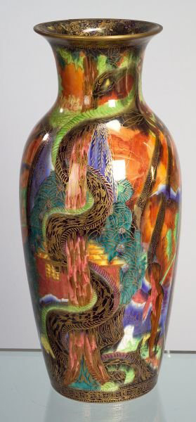 Fairyland Lustre Tree Serpent Vase