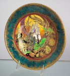 Fairyland Lustre White Pagodas Plate